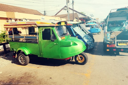 Our strange looking tuk-tuk.