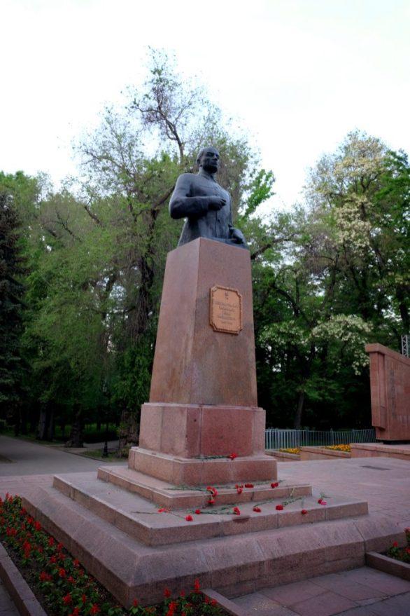 Bronze monument to Major General Ivan Panfilov