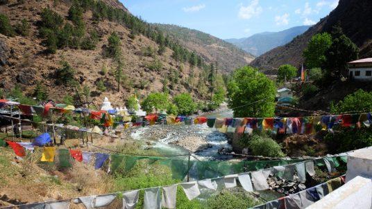 Thimphu river (Wang Chu) and Paro river (Pa Chhu) Bhutan