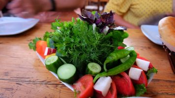 "Veggies and herbs at Stolovaya ""Khochiyon"""