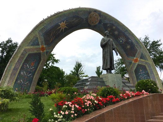 Rudaki statue in Dushanbe