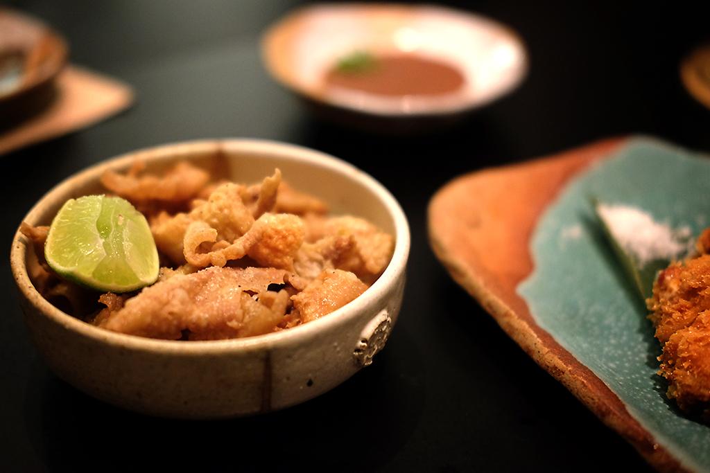 Chicken Skin dish at Bambino Bangkok