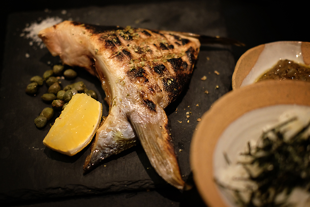 Fish with Kani Miso butter at Bambino Bangkok