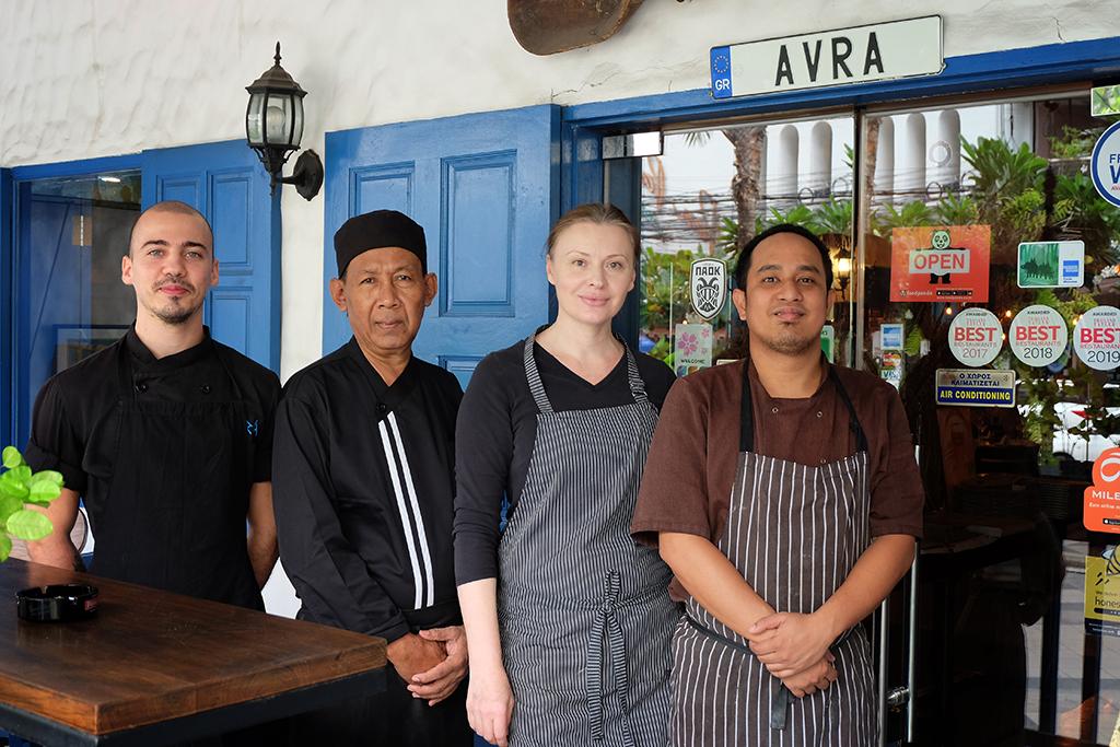 AVRA Bangkok Kitchen staff