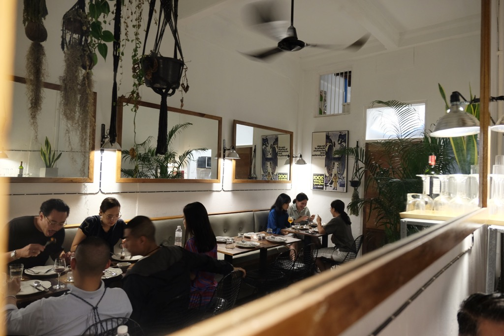 Dining area of Biscuit Bar Bangkok
