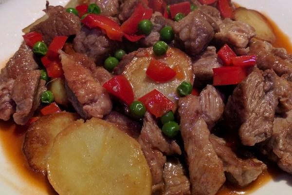 Pan Fried Pork Steak with Potato