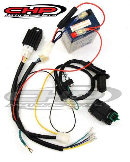 small resolution of conversion kit for a new 12 volt cdi motor to 6 volt with cdi chp ct70 12 volt wire harness
