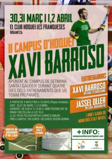 Cartell 2n Campus Xavi Barroso
