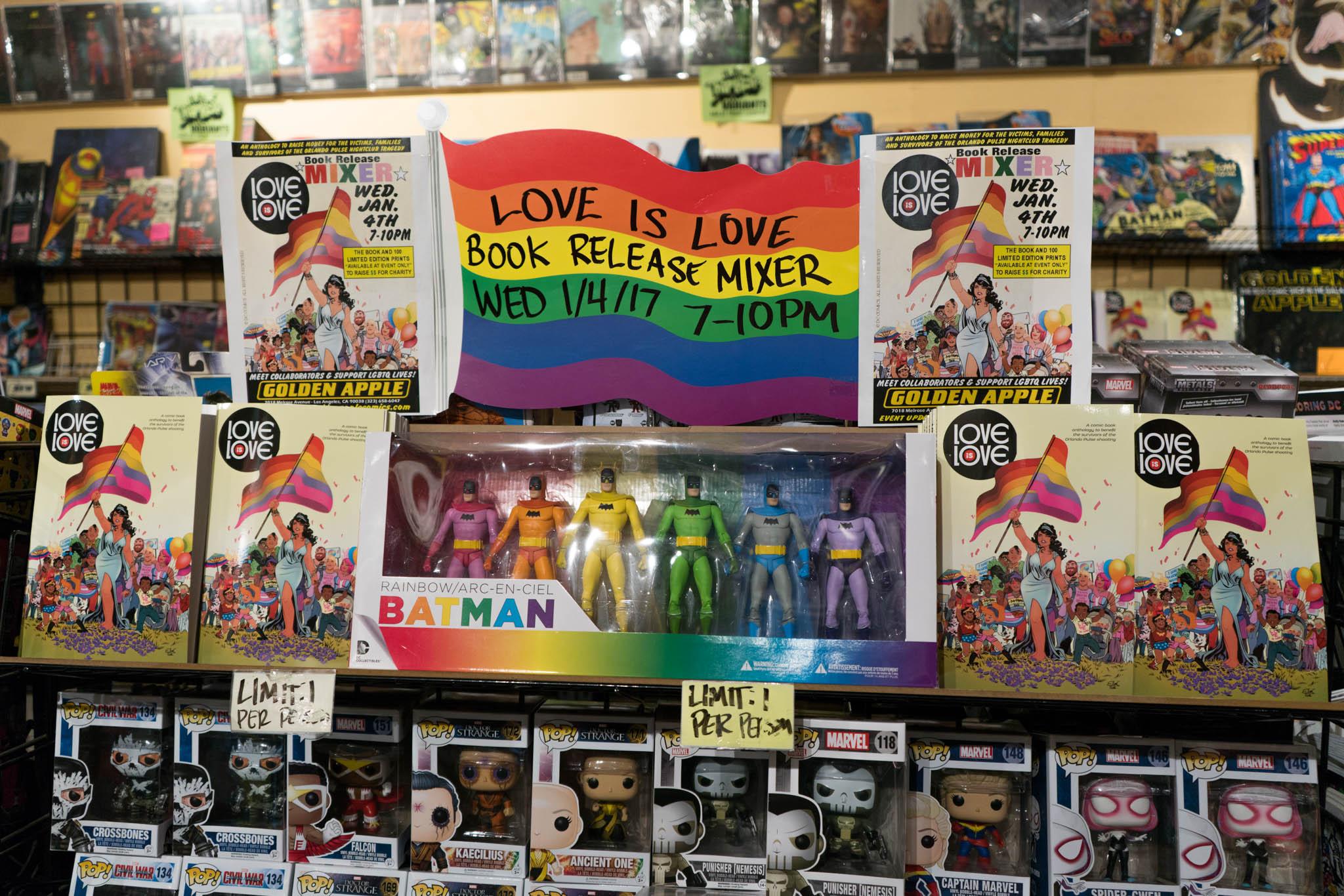 Love Is Love, Golden Apple Comics, Marc Andreyko, DC Comics, IDW Publishing