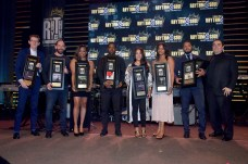 BEVERLY HILLS, CA - JUNE 22: Members of Universal Music Publishing pose with awards at the ASCAP 2017 Rhythm & Soul Music Awards at the Beverly Wilshire Four Seasons Hotel on June 22, 2017 in Beverly Hills, California. (Photo by Lester Cohen/Getty Images for ASCAP)