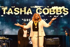 BEVERLY HILLS, CA - JUNE 22: Tasha Cobbs performs onstage at the ASCAP 2017 Rhythm & Soul Music Awards at the Beverly Wilshire Four Seasons Hotel on June 22, 2017 in Beverly Hills, California. (Photo by Lester Cohen/Getty Images for ASCAP)
