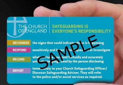 safeguarding contact card pack
