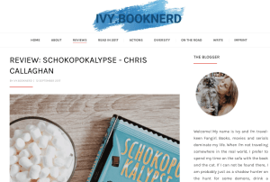 Ivy Book nerd, Schokopokalypse, Chocopocalypse, The Great Chocoplot, Chris Callaghan