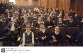 Pupils from St Clare's Primary