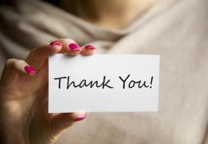 Time to show gratitude