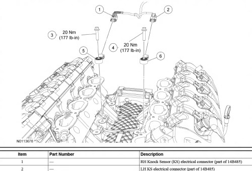 small resolution of knock sensor harness ford mustang forum ford knock sensor wiring