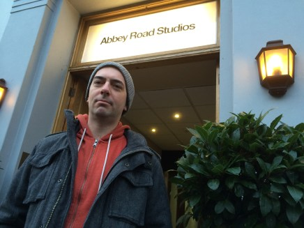Recording session for EMI at Abbey Road Studios