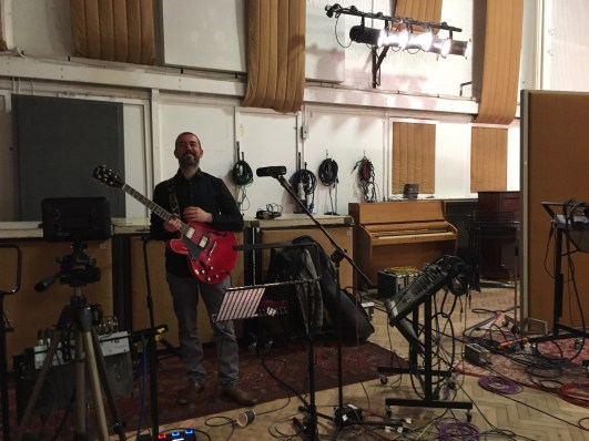 Recording with Charlie Wood at Abbey Road