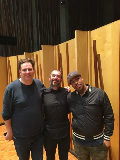 Post gig with Eric Harland and Malcolm Edmonstone