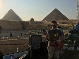Soundcheck at the Pyramids with Omar Kamal