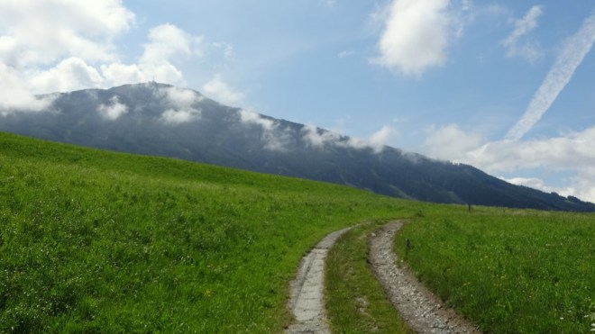 Looking at the Patscherkofel from Aldrans, Tirol, Austria
