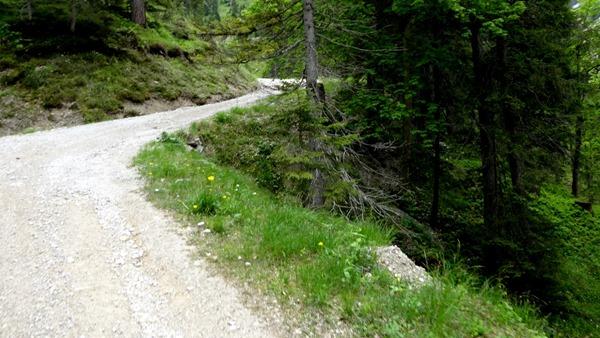 Seefelder Strasse from Seefeld into the Karwendel Mountains