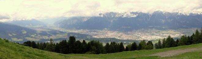 Innsbruck from the Vigarspitz