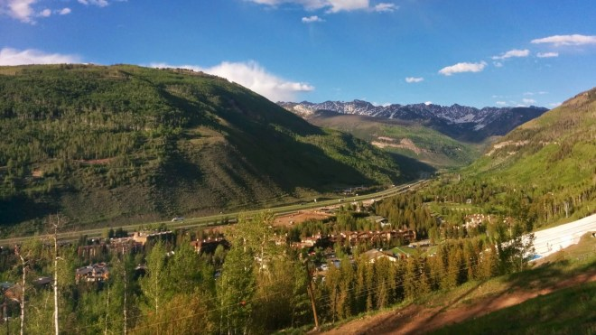 Vail in the evening light of June