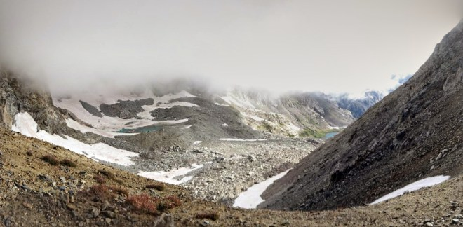 The Arapahoe Glacier, or at least the part not hidden behind the peaks