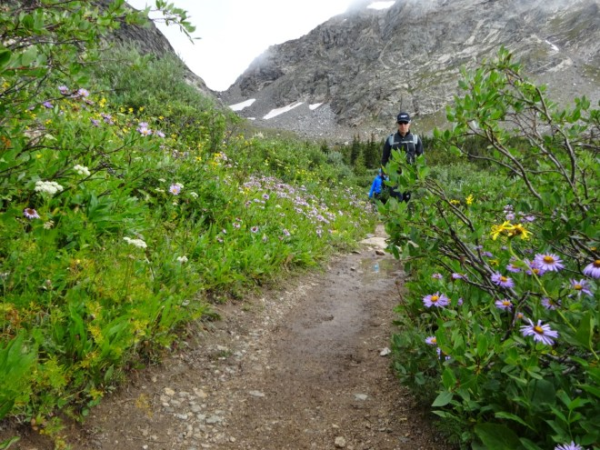 Heading up the Arapahoe Glacier trail