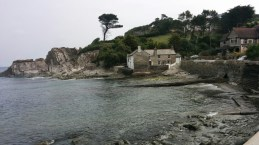 July: Lee Bay in Devon at hightide