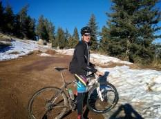 Riding into the snow