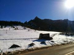 Chautauqua still looking snowy.