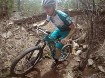 Bryan enjoying the trails.