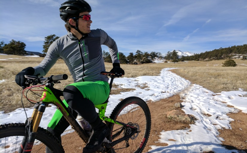 Snow packed trails are as close as Colorado gets to real dirt