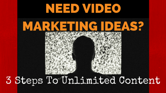 Need Video Marketing Ideas? 3 Steps to Unlimited Content!