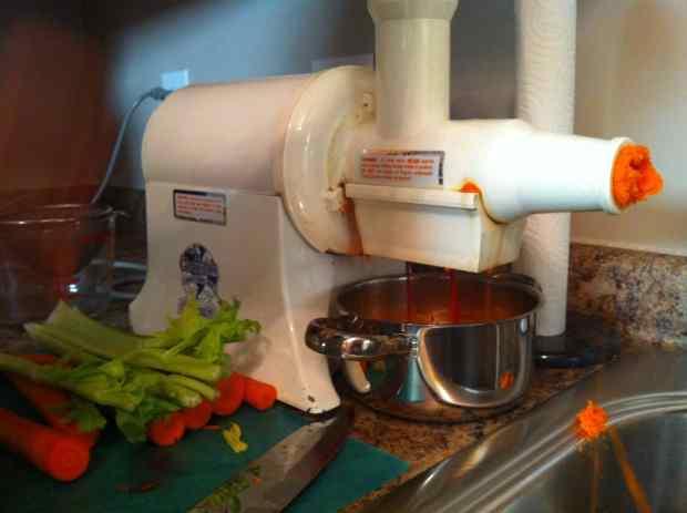 Champion Juicer, juicing carrots