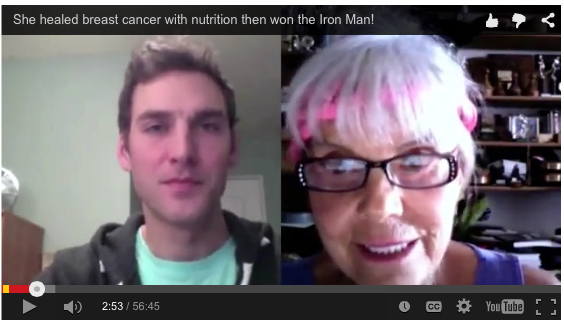 She healed stage 4 breast cancer with nutrition in 1982 then won the Iron Man