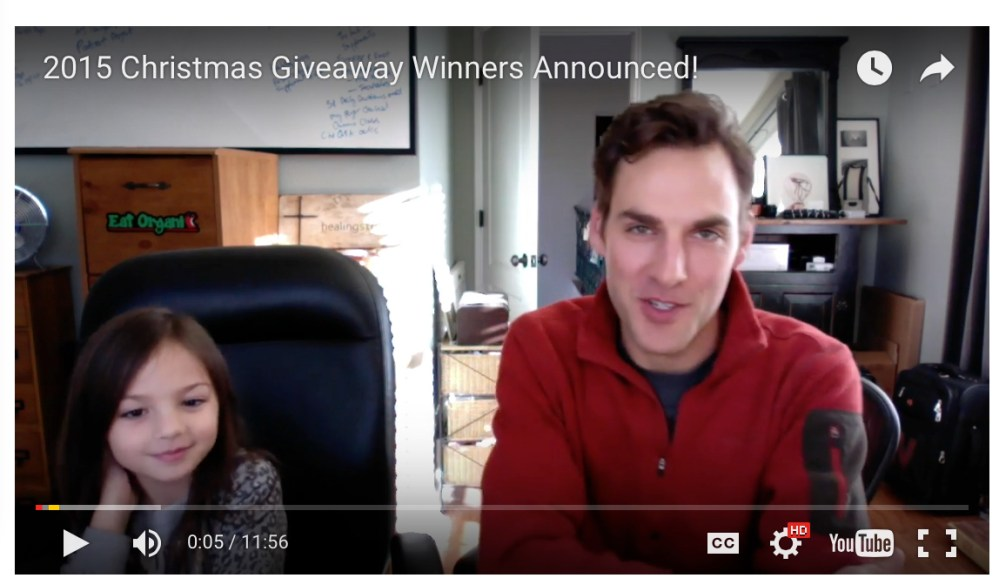 2015 Christmas Giveaway Winners Announced!