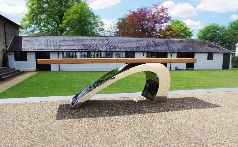 Modern Garden Bench - Zandalus.Net