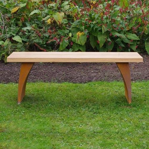 metal urban garden bench
