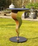 metal garden bird bath - designer garden furniture