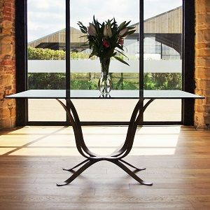 Web metal dining table