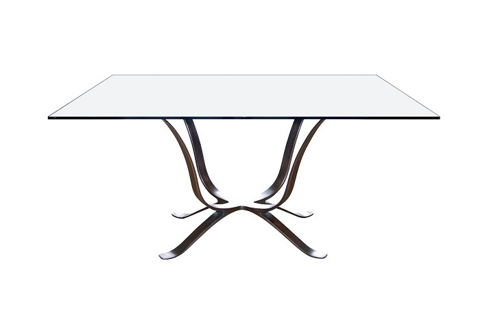 Octo glass dining table