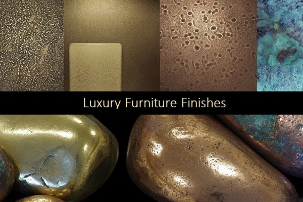 Bespoke metal furniture luxury finishes and veneers.