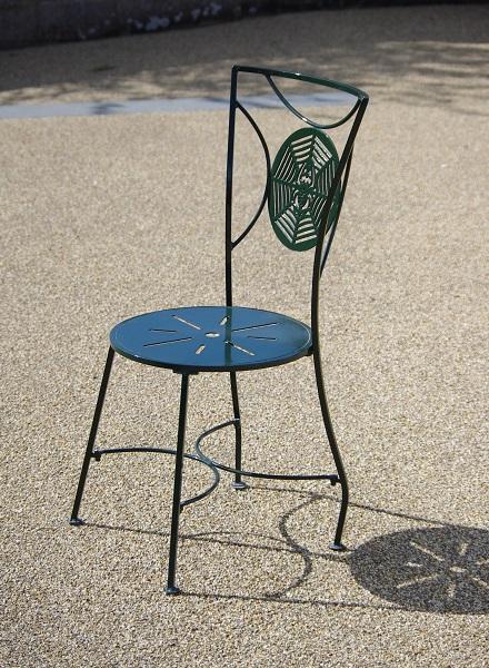 Metal garden furniture chair