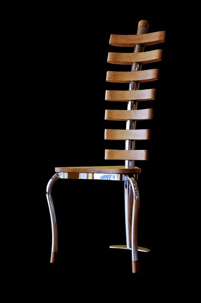 Wood designer chair handmade bespoke