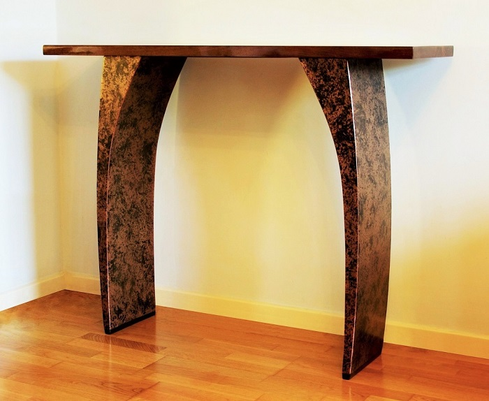 Metallic bronze furniture