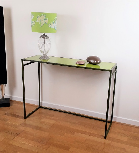 Colourful console table