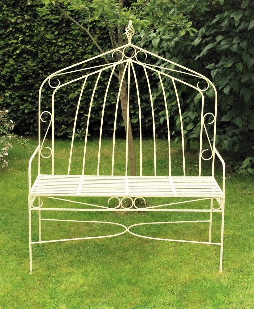 Metal Gothic High-backed Bench